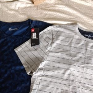 Nautica and Under armour t-shirts